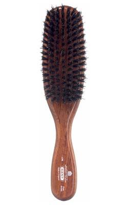 Kent Haarbürste LR6 handbearbeitet, schmal, mit schwarzen Naturborsten