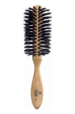 Kent Haarbürste LC8 handbearbeitet, halb-radial, mit schwarzen Naturborsten