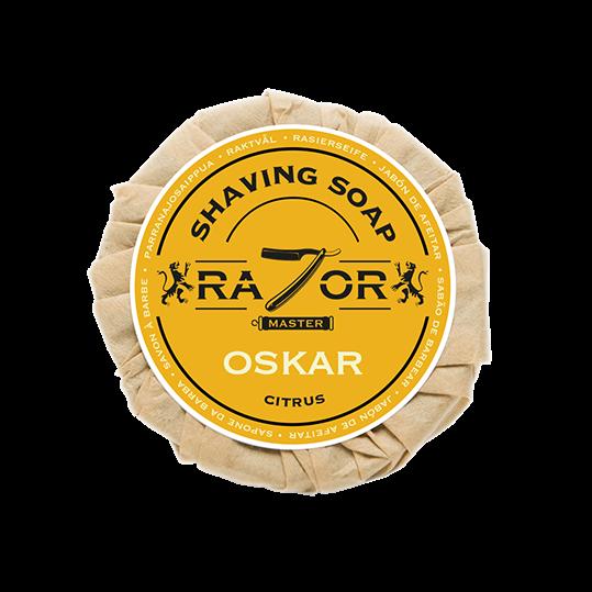 Razor Master Rasierseife 80g Duft: OSKAR (Citrus)