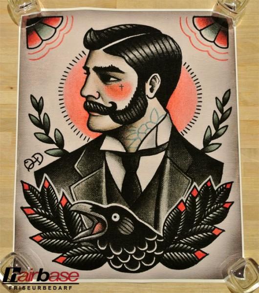 Parlor Tattoo Print - Motiv: Victorian Gentleman - 33x41cm