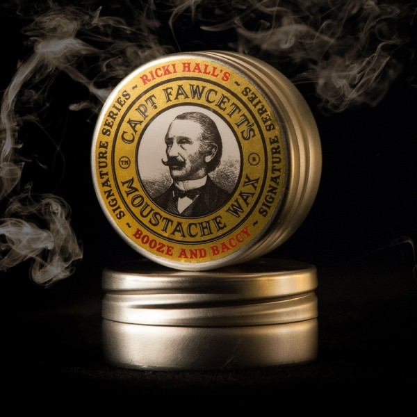 Captain Fawcett - Moustache Wax (Bartwichse) - Ricki Hall Booze & Baccy 15 ml
