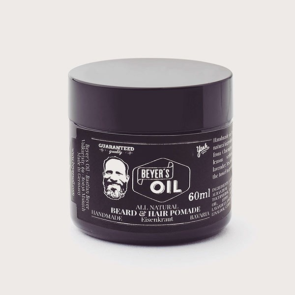 Beyer's Oil Beard & Hair Pomade Balm Eisenkraut 60 ml