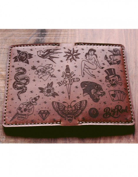 Big Red Bi-Fold Wallet / Brieftasche - Tattoo Edition