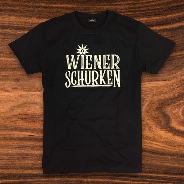 WIENER SCHURKEN T-SHIRT - SCHWARZ - LOGO LARGE/SKULL