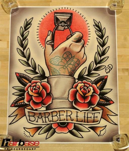 Parlor Tattoo Print - Motiv: Barber Life - 33x42cm