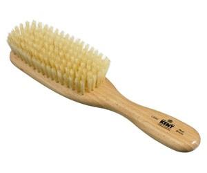 Kent Haarbürste LS9D handbearbeitet, schmal, mit weichen weißen Naturborsten
