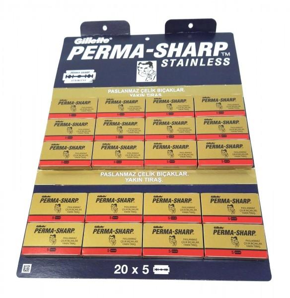 Rasierklingen Perma-Sharp 100 Stk (=20 Pkg)