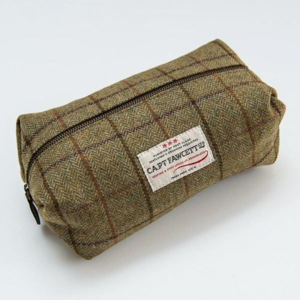Captain Fawcett - Tweed Wash Bag (CF.318)