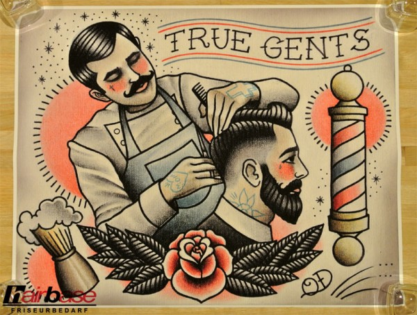 Parlor Tattoo Print - Motiv: True Gents - 42x33cm