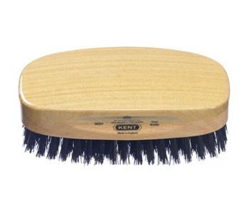 Kent Haarbürste MS23 handbearbeitet, rechteckig, mit schwarzen Naturborsten