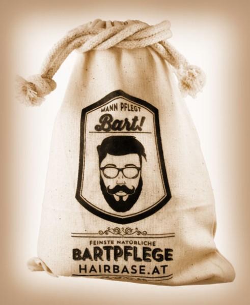 MANN PFLEGT BART - Stoffbeutel aus 100% Baumwolle