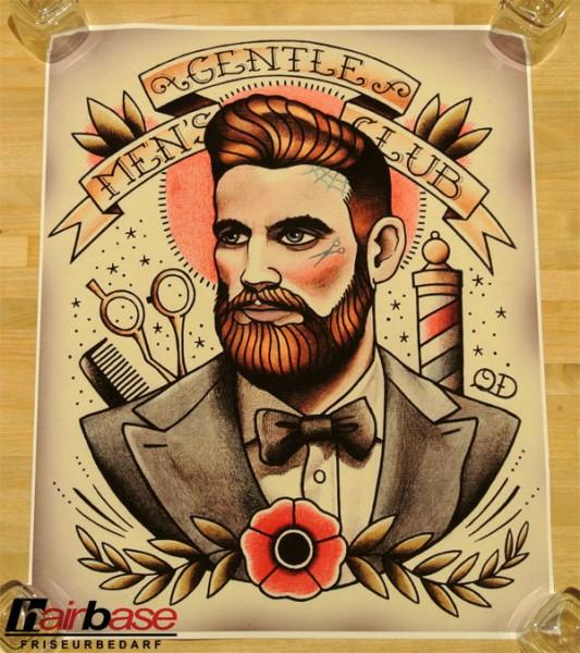 Parlor Tattoo Print - Motiv: Gentlemen's Club - 33x41cm
