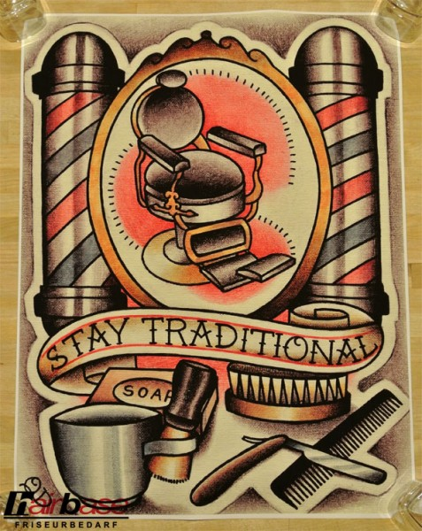 Parlor Tattoo Print - Motiv: Stay Traditional - 33x43cm