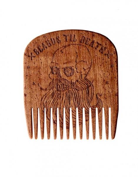 Big Red No.5 Beards Til Death Skull - Bartkamm