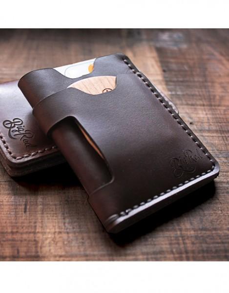 Big Red Minimalist Wallet / Brieftasche - Farbe: Walnut
